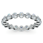 Floating Diamond Eternity Ring in Platinum (2 ctw) | Thumbnail 02