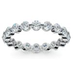 Floating Diamond Eternity Ring in Platinum (2 ctw)   Thumbnail 02