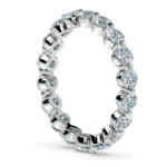 Floating Diamond Eternity Ring in Platinum (2 ctw) | Thumbnail 04