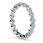 Floating Diamond Eternity Ring in Platinum (2 ctw)   Thumbnail 04
