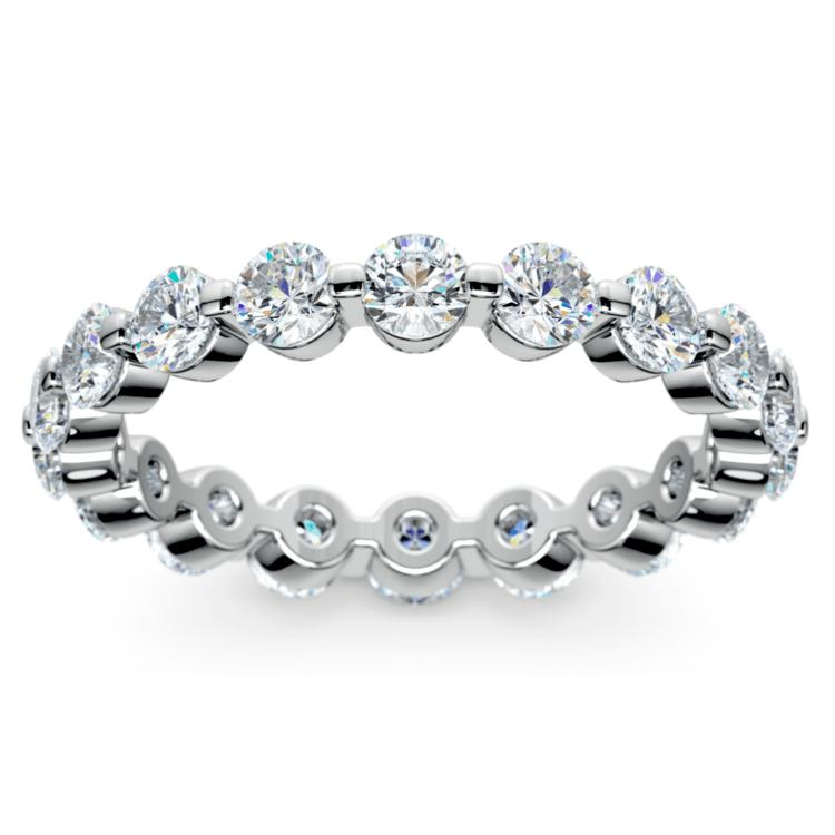Floating Diamond Eternity Ring in Platinum (2 ctw)   02