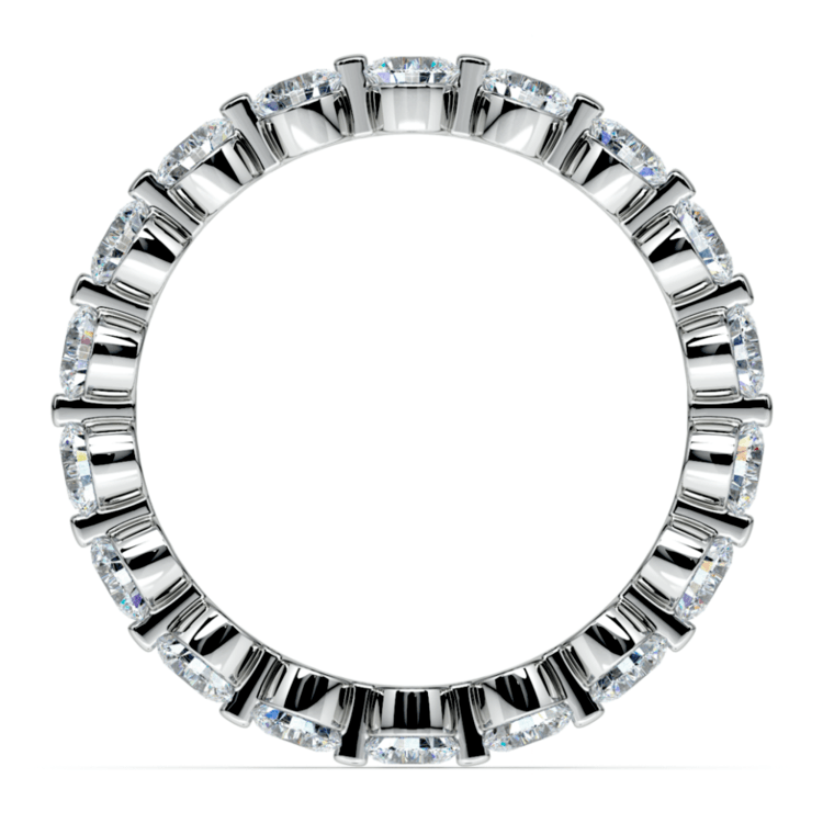 Floating Diamond Eternity Ring in Platinum (2 ctw)   03