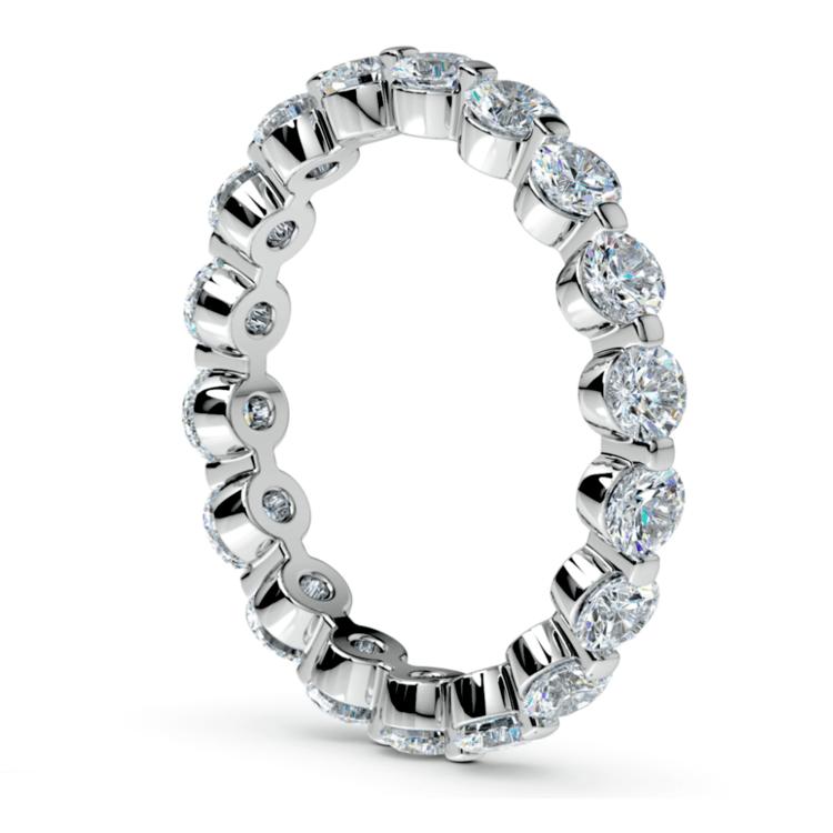 Floating Diamond Eternity Ring in Platinum (2 ctw)   04