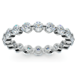 Floating Diamond Eternity Ring in White Gold (2 ctw) | Thumbnail 02
