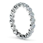 Floating Diamond Eternity Ring in White Gold (2 ctw) | Thumbnail 04