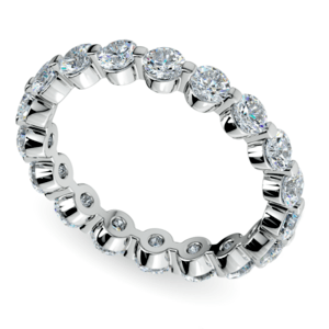 Floating Diamond Eternity Ring in White Gold (2 ctw)