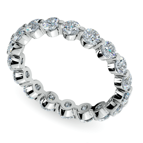 floating diamond eternity ring in white gold 2 ctw - Wedding Rings Diamond
