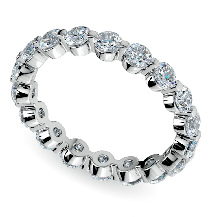 Floating Diamond Eternity Ring in White Gold (2 ctw) | 01