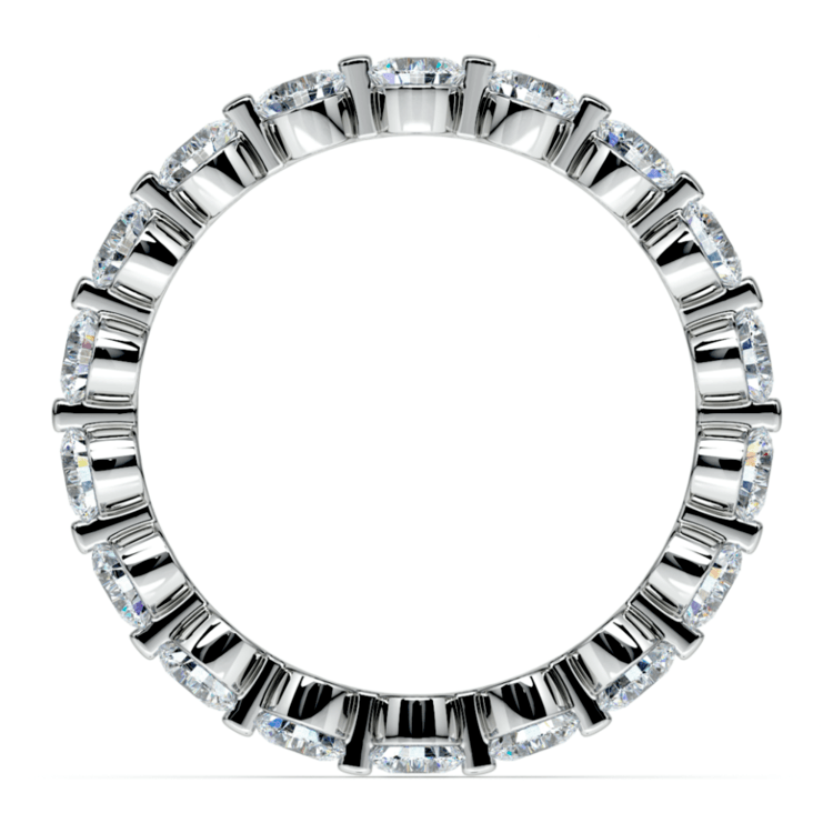 Floating Diamond Eternity Ring in White Gold (2 ctw) | 03