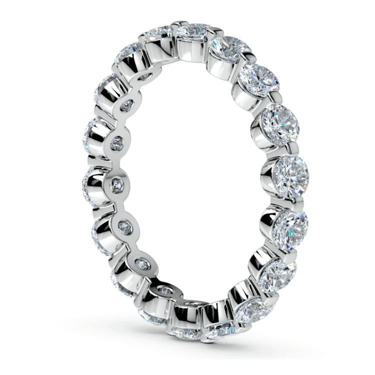 Floating Diamond Eternity Ring in White Gold (2 ctw) | 04