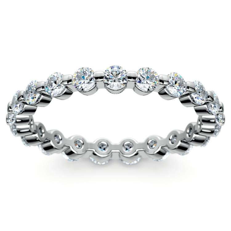 1 Carat Floating Diamond Eternity Ring In Platinum   02