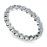 Floating Diamond Eternity Ring in White Gold (1 ctw) | Thumbnail 01