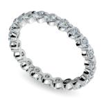 Glistening 1 Carat Floating Diamond Eternity Ring In White Gold | Thumbnail 01