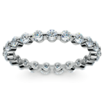 Glistening 1 Carat Floating Diamond Eternity Ring In White Gold | Thumbnail 02