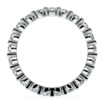 Floating Diamond Eternity Ring in White Gold (1 ctw) | Thumbnail 03