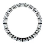 Glistening 1 Carat Floating Diamond Eternity Ring In White Gold | Thumbnail 03
