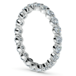 Glistening 1 Carat Floating Diamond Eternity Ring In White Gold | Thumbnail 04