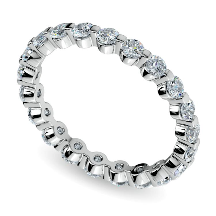1ead43c939179 Floating Diamond Eternity Ring in White Gold (1 ctw)