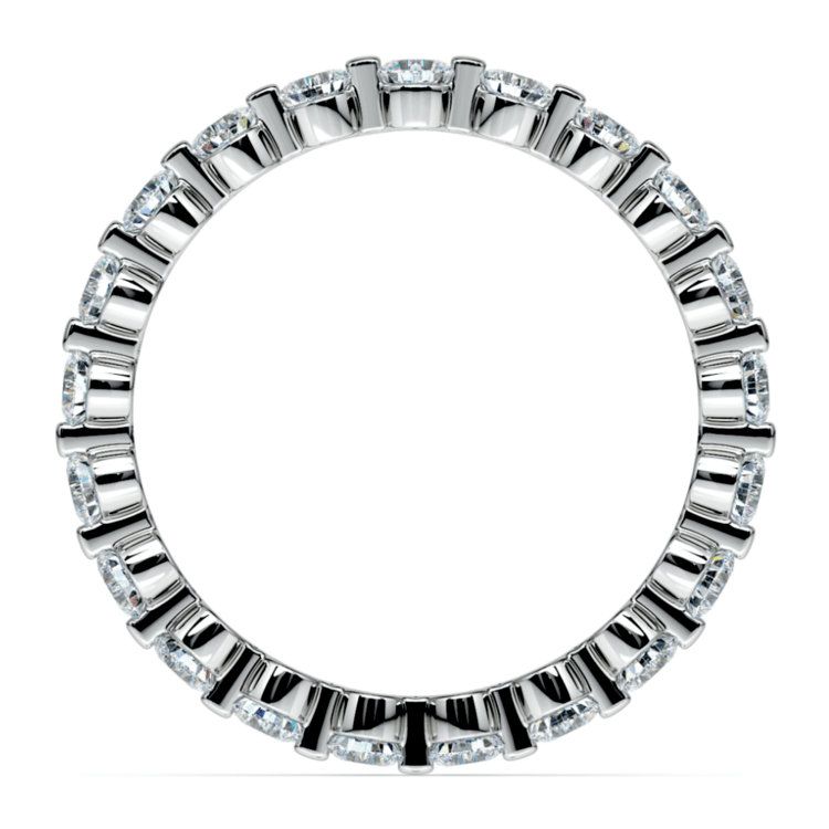 Floating Diamond Eternity Ring in White Gold (1 ctw) | 03