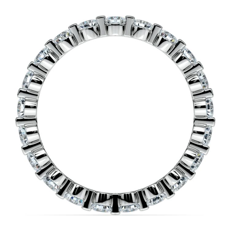 Glistening 1 Carat Floating Diamond Eternity Ring In White Gold | 03