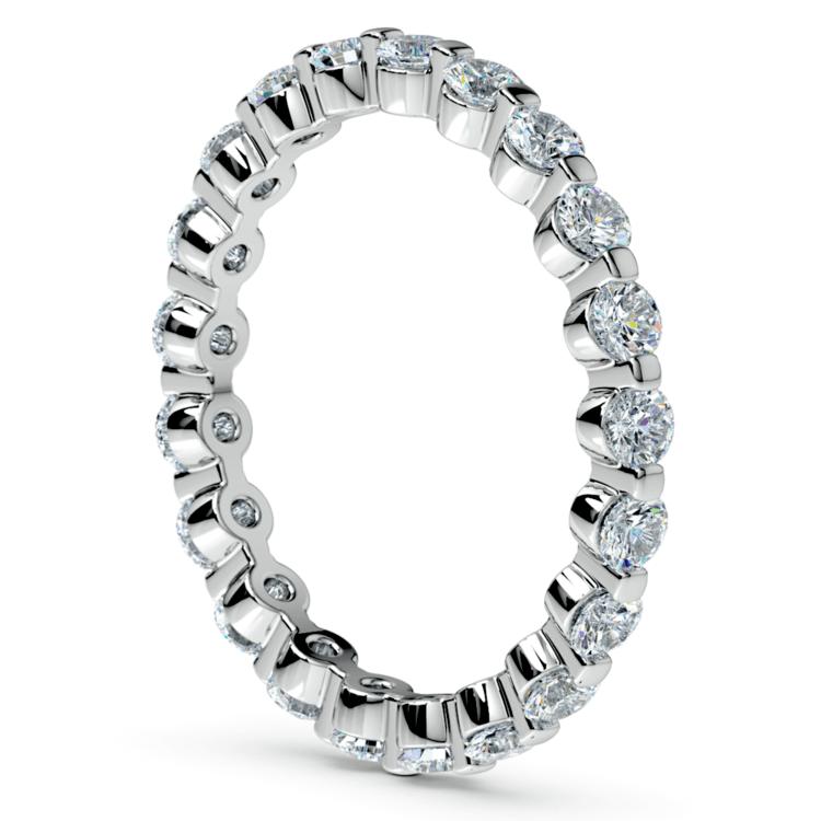 Glistening 1 Carat Floating Diamond Eternity Ring In White Gold | 04