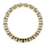 Floating Diamond Eternity Ring in Yellow Gold (1 ctw) | Thumbnail 03