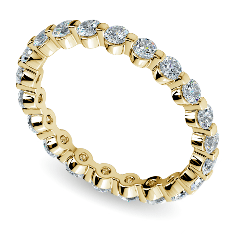 Floating Diamond Eternity Ring in Yellow Gold (1 ctw) | 01