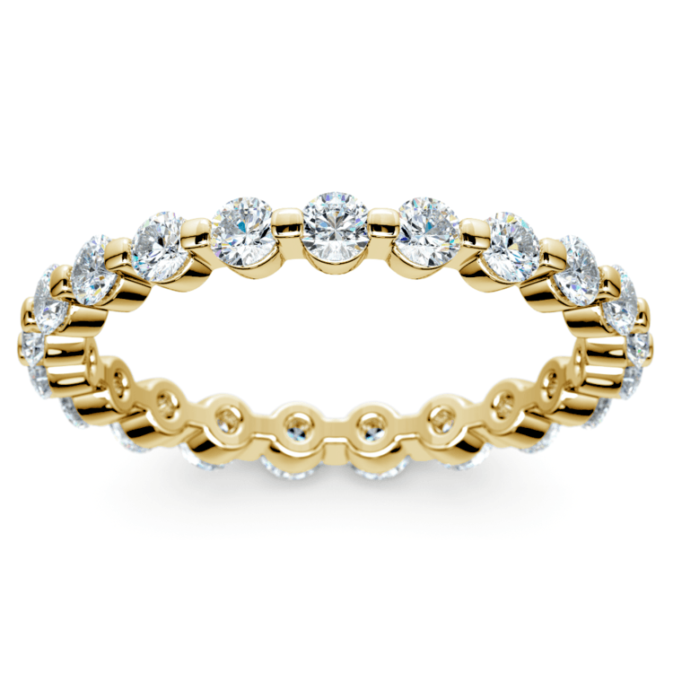 Floating Diamond Eternity Ring in Yellow Gold (1 ctw) | 02