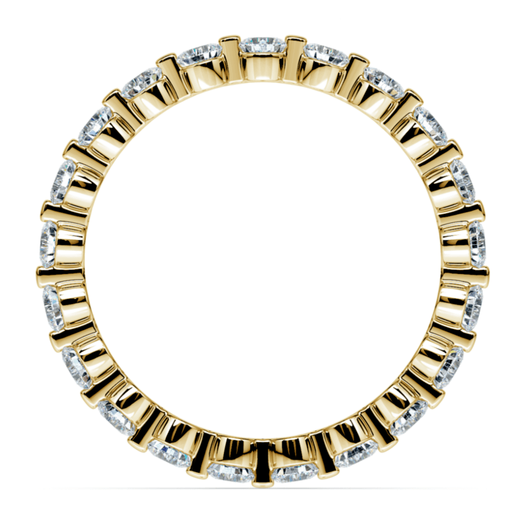 Floating Diamond Eternity Ring in Yellow Gold (1 ctw) | 03
