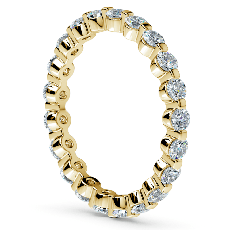 Floating Diamond Eternity Ring in Yellow Gold (1 ctw) | 04
