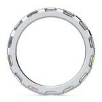 Floating Baguette Diamond Eternity Ring In Platinum | Thumbnail 03