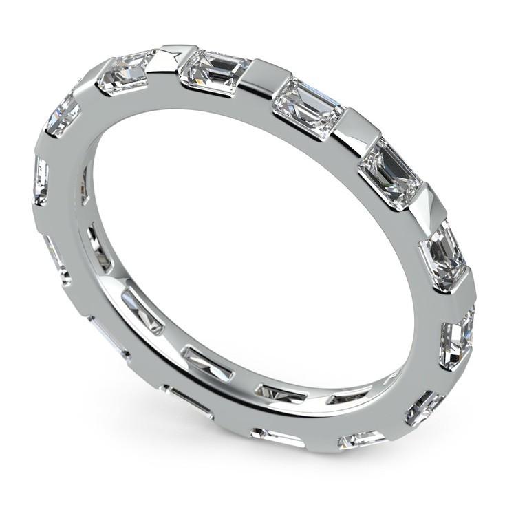 Floating Baguette Diamond Eternity Ring In White Gold   01