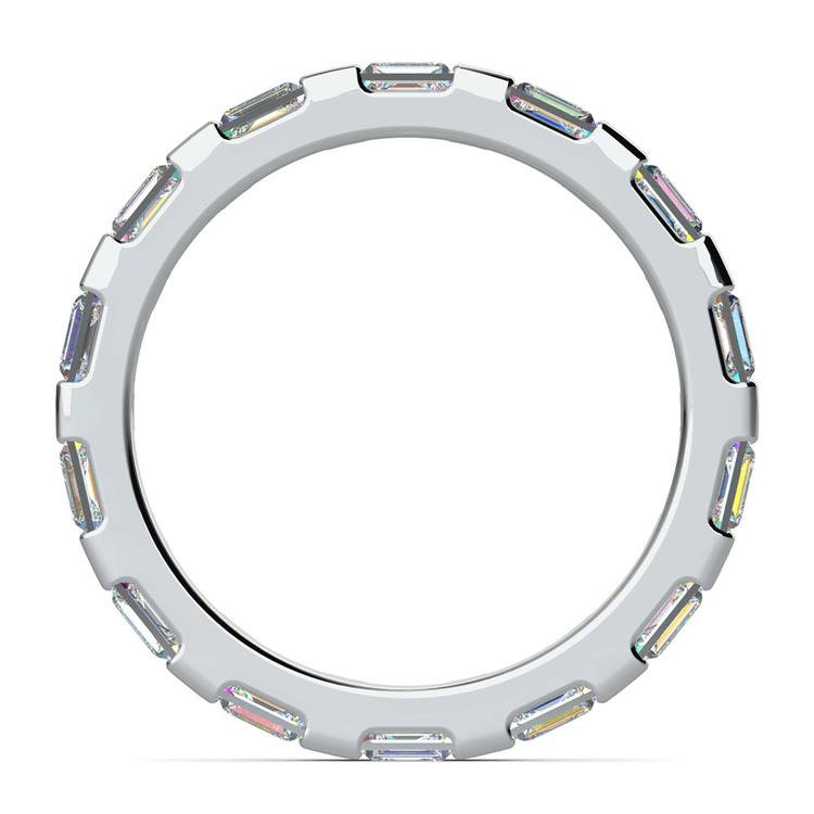 Floating Baguette Diamond Eternity Ring In White Gold   03