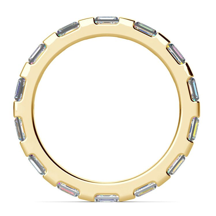 Floating Baguette Diamond Eternity Ring In Yellow Gold | 03