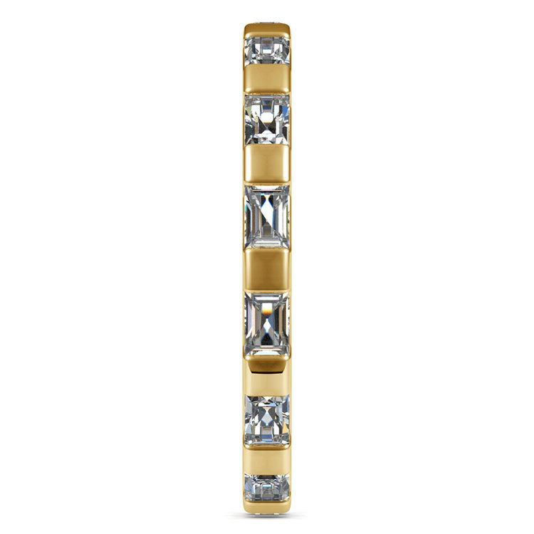 Floating Baguette Diamond Eternity Ring In Yellow Gold | 04
