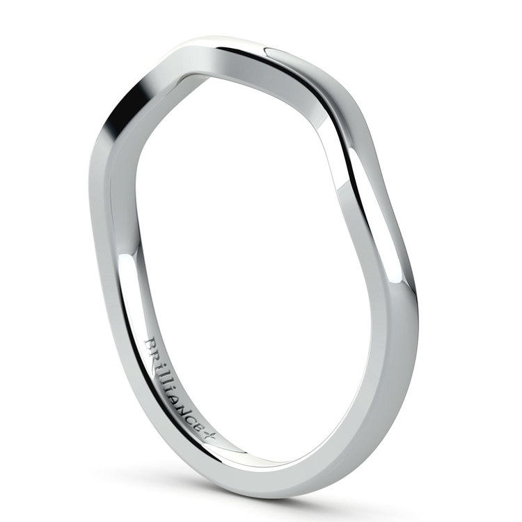 Florida Ivy Wedding Ring in Platinum   04