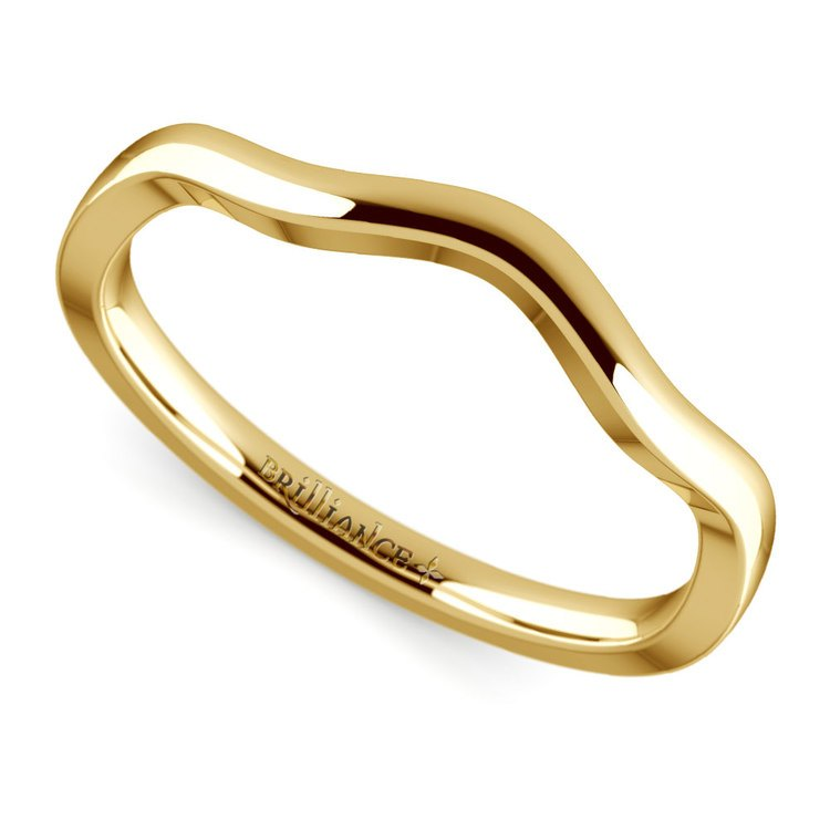 Florida Ivy Wedding Ring in Yellow Gold | Zoom