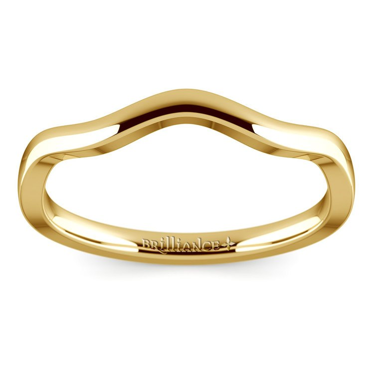 Florida Ivy Wedding Ring in Yellow Gold | 02
