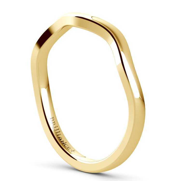 Florida Ivy Wedding Ring in Yellow Gold | 04