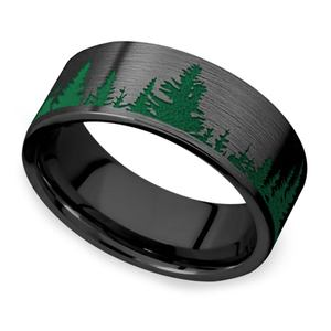 Forbidden Forest - Zirconium Mens Band