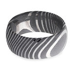 Forged - Damascus Steel Mens Band   Thumbnail 03