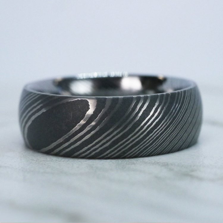 Forged - Damascus Steel Mens Band | 06