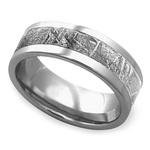 Gama - Mens Meteorite Ring in Titanium | Thumbnail 01