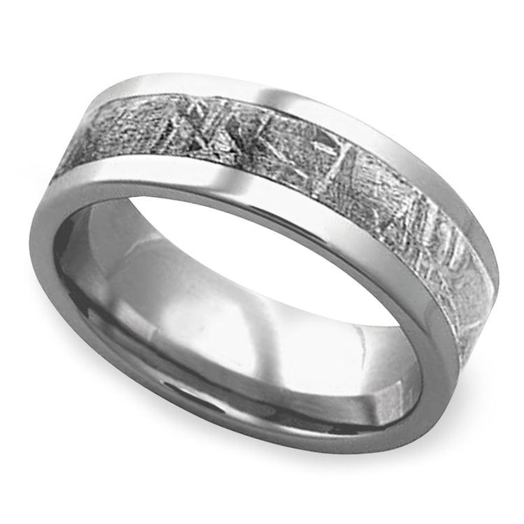 Gama - Mens Meteorite Ring in Titanium | 01