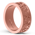 Gear Channel Men's Wedding Ring In Rose Gold | Thumbnail 04