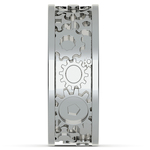 Gear Channel Men's Wedding Ring in White Gold | Thumbnail 05