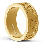 Gear Channel Men's Wedding Ring In Yellow Gold | Thumbnail 04