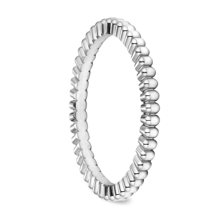 Gear Cut Wedding Ring in White Gold (2mm) | 02