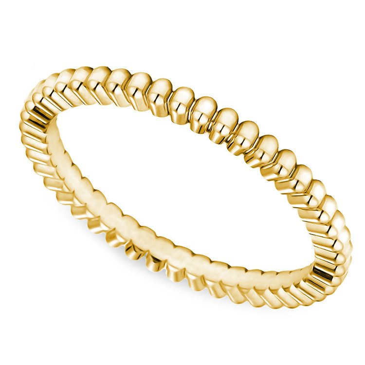 Gear Cut Wedding Ring in Yellow Gold (2mm) | 01
