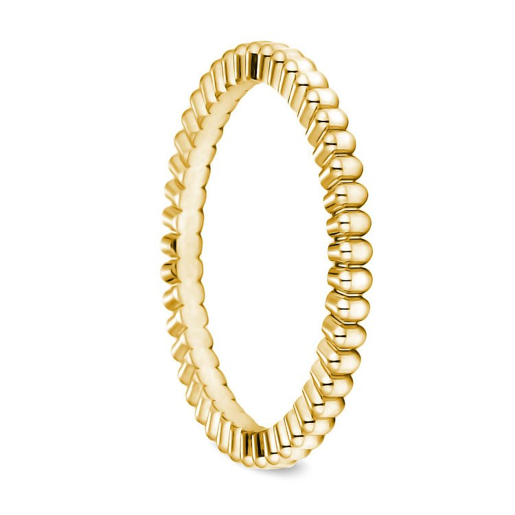 Gear Cut Wedding Ring in Yellow Gold (2mm) | 02